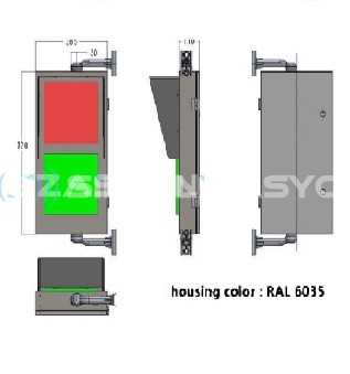 300mm  5mm LED'li Kırmızı Adam - Yaya Yürüyen Yeşil adam + Kırmızı -Yeşil  Geri Sayıcılı Display