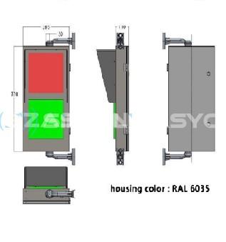 Sarix™ 300mm  5mm LED'li Kırmızı Adam - Yaya Yürüyen Yeşil adam + Kırmızı -Yeşil  Geri Sayıcılı Display