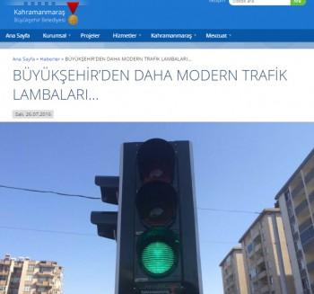Maraş Büyükşehir'den daha Modern Trafik Lambaları..